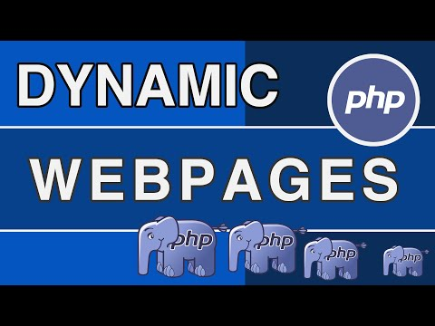 PHP Tutorials – Dynamic HTML Web pages using PHP [NEW]