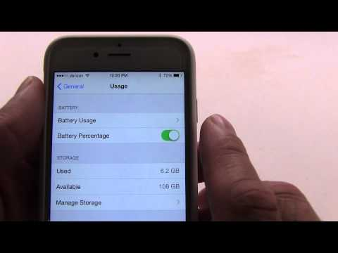 how to turn percentage on iphone 6