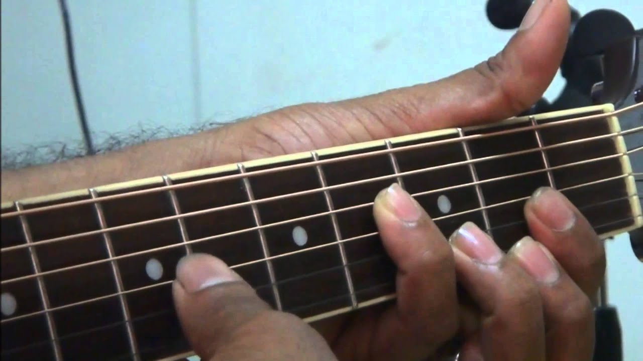 Asela with sinhala guitar lesson 1 (see lesson 39 for speed up your left hand finger tequenic