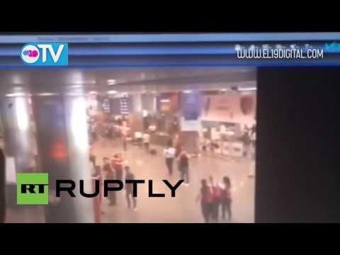 El momento exacto de la explosión en el aeropuerto Ataturk de Estambul, Turquía