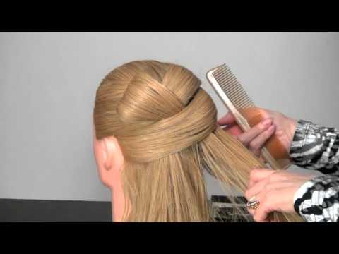 уроки на видео прически волос