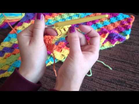 uncinetto - punto diagonale: realizzazione di una coperta afgana