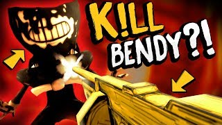 Bendy and the Ink Machine - KILLING BENDY?! The Secret Tommy Gun! - BATIM Chapter 3 Gameplay Secrets