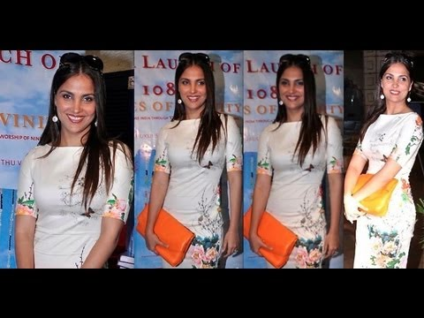 Lara Dutta's post pregnancy flat tummy @ book launch of '108 Shades Of Divinity'