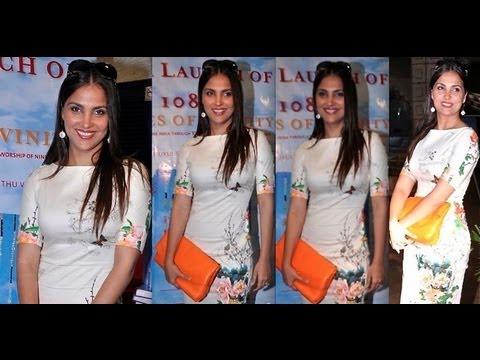 Lara Dutta's post pregnancy flat tummy @ book launch of '108 Shades Of Divinity'