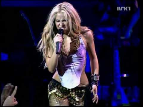 Shakira- Whenever, Wherever Live At Laundry Service Release Party (New York) HQ