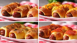 Pretzel Dogs Four Ways by Tasty