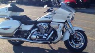 6. 2012 Kawasaki Vulcan 1700 Voyager ABS White and Beige