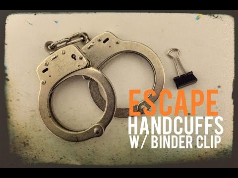 Pick Handcuffs with a Binder Clip