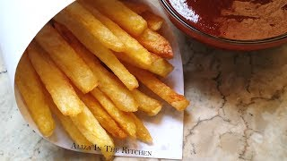French Fries Recipe - Homemade Crispy French Fries Recipe - Aliza In The Kitchen