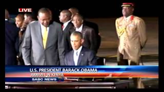 Barack Obama has arrived in Kenya on the first visit to his ancestral home as serving US president. During his two-day visit Mr Obama will hold talks with Ke...