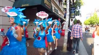 Comic-Con 2016 - Sharknado 4 - The 4th Awakens Promo Girls & Elvis On Stilts Parade - San Diego, CA