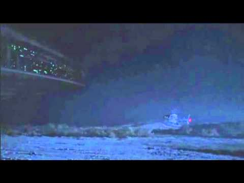 Alien ship in X-Files with a cloaking field
