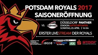 Live-Stream: Saisoneröffnung 2017: Potsdam Royals vs. Düssel...
