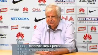 Depois de uma primeira tentativa frustrada, o Santos Futebol Clube finalmente elegeu seu novo presidente. Modesto Roma Jr.