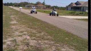 10. YFZ450 vs Raptor700 1/4mile