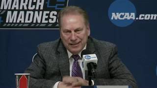 Michigan State press conference after first round win