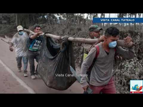 Van 69 muertos en Guatemala por erupción del Volcán de Fuego Video