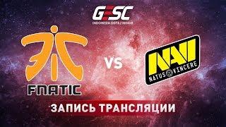 Fnatic vs Natus Vincere, GESC Jakarta, game 1 [Adekvat, LighTofHeaveN]