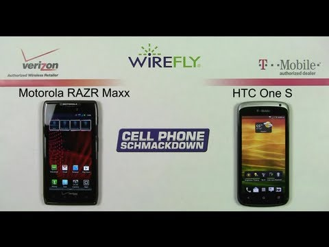 Smartphone Comparison Review Verizon Droid RAZR Maxx vs T-Mobile HTC One S