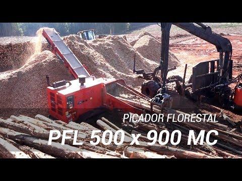 Picador Florestal Lippel RAPTOR 900 - trabalhando com eucaliptos