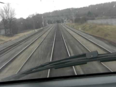 Virgin Pendolino,cab ride at 125mph through Linslade Tunnel on the up fast.