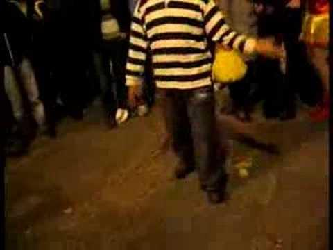 Funny drunk man dance