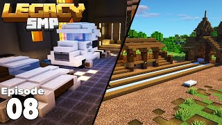 LegacySMP : Episode 8 : Cyberpunk Storage Room & Jousting Arena in Minecraft 1.15 Survival