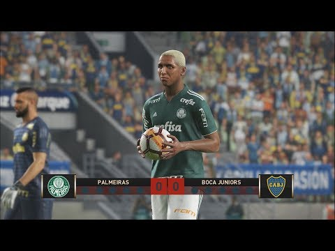 Palmeiras Vs Boca Jr - Disputa De Pênalti  No Allianz Parque!! Libertadores Da América - PES 19