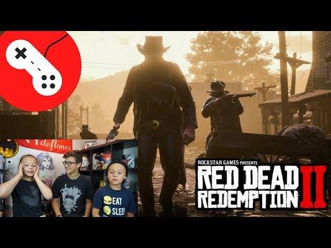 RED DEAD REDEMPTION 2 First Gameplay Trailer REACTION