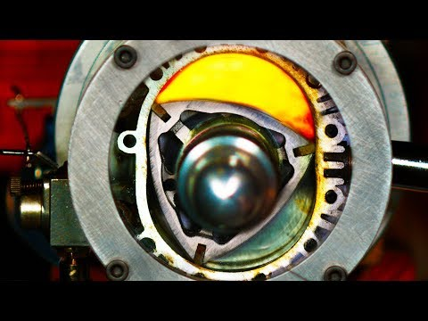 See Thru Rotary Engine in Slow Motion - (Wankel Engine) 4K