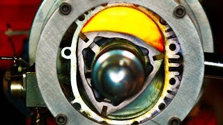 Video See Thru Rotary Engine in Slow Motion - (Wankel Engine) 4K MP3, 3GP, MP4, WEBM, AVI, FLV April 2019