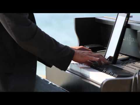 video:Brian Stodart Portable Baby Grand Piano on the Beach