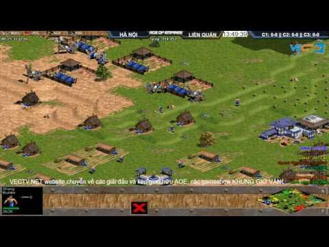 AOE | 4vs4 Random Hà Nội vs Liên Quân POW vs ngày 9-8-2017.BLV:V_Mun