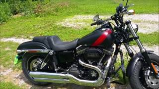 9. 2016 Harley FatBob Vance and Hines Twin Slash Slipons
