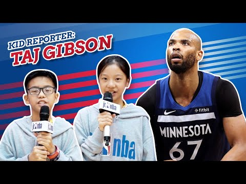 KID REPORTERS WITH TAJ GIBSON