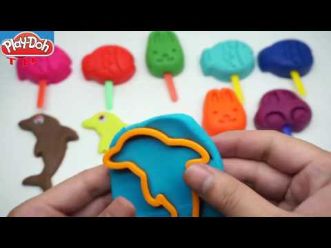 Learn Colors with Play Doh Ice Cream    Plastilina Play Doh Trolls Play Doh Trolls