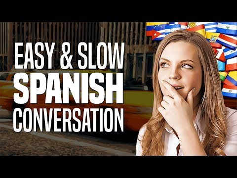 Beginner Spanish Conversation #28: Taking A Taxi (with Slow Pronunciation And English Subtitles)