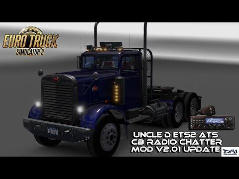 Uncle D ETS2 ATS CB Radio Chatter Mod V2.01