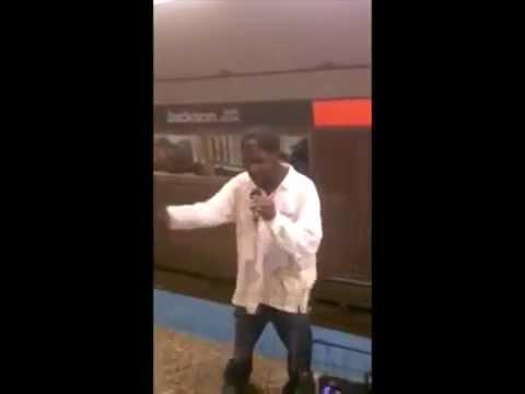 rapping - Homeless man rapping on subway got bars!