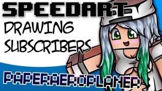 Minecraft SpeedArt - PaperAeroplane [GoldSolace Draws Subscribers]