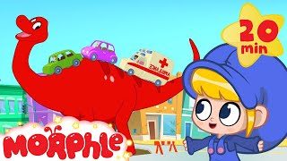 Video Morphle the Traffic Dinosaur helps cars + vehicles - Dinosaurs for kids (T-rex, Argentinosaurus) MP3, 3GP, MP4, WEBM, AVI, FLV Oktober 2017
