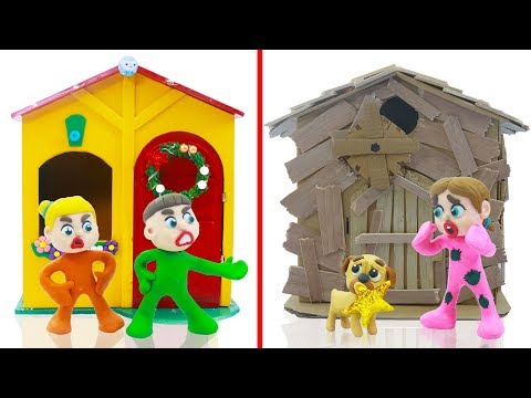 Download Video SUPERHERO BABY PLAYHOUSE DECORATION 💖 Play Doh Cartoons For Kids