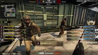 91Lounge Cup || TheMongolz vs New4 || de_train || by @CMART