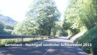 Gernsbach Germany  city pictures gallery : Ride On Motorradtour 2015 Gernsbach - Nachtigall nördlicher Schwarzwald GoPro Hero4