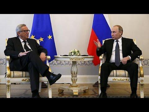 Συνάντηση Γιούνκερ- Πούτιν στην Αγία Πετρούπολη, παρά τις κυρώσεις της Ε.Ε.