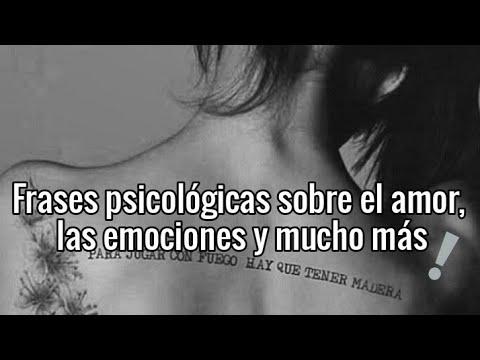 Frases psicológicas sobre el amor, las emociones y mucho más ...