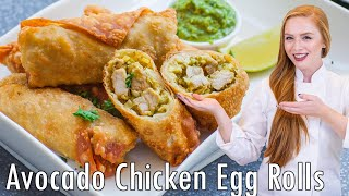 The BEST Avocado Chicken Egg Rolls by Tatyana's Everyday Food