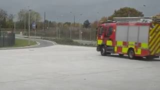 Wrexham United Kingdom  city photo : Fire Appliance 999 turnout North Wales Fire & Rescue Service UK Wrexham