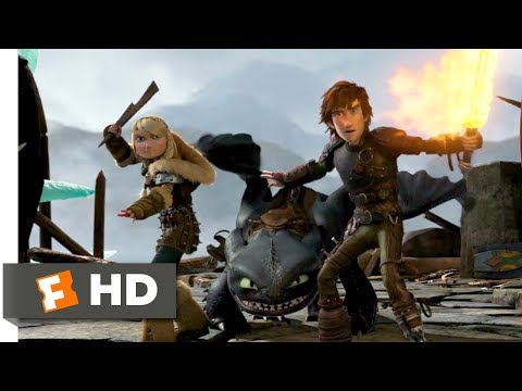 How to Train Your Dragon 2 (2014) - Dragon Trappers Scene (2/10)   Movieclips